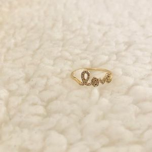 Sydney Evan 14k Gold Love Ring